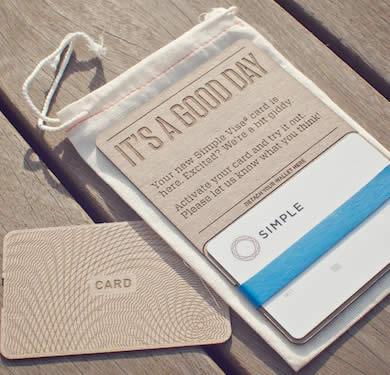 Simple debit card mailing